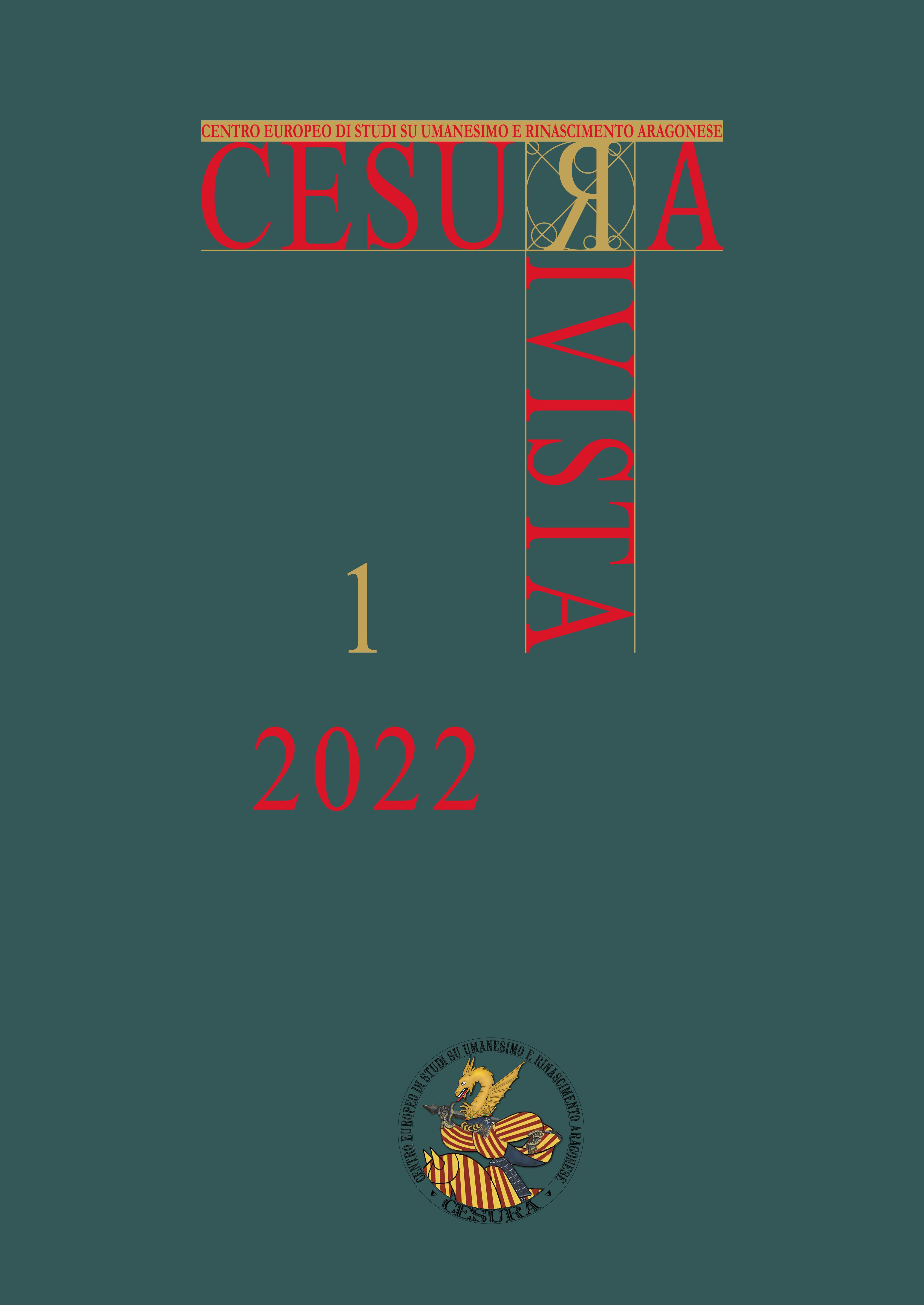 Visualizza V. 1 N. 1 (2022): CESURA Rivista 1 (2022)